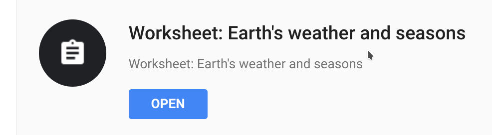 Worksheet: Earth`s weather and sessions