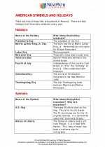 Social Studies - Fourth Grade - Study Guide: American Symbols & Holidays