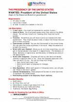 Social Studies - Fourth Grade - Study Guide: The Presidency