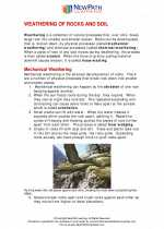 Science - Seventh Grade - Study Guide: Weathering of rocks and soil formation