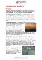 Science - Sixth Grade - Study Guide: Our impact on earth