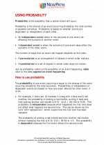 Mathematics - Seventh Grade - Study Guide: Using Probability