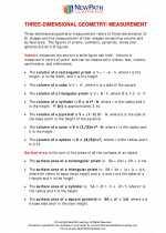 Three dimensional geometry/Measurement