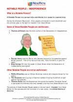 Social Studies - Fifth Grade - Study Guide: Notable People