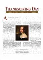 Social Studies - Fourth Grade - Study Guide: Thanksgiving Day