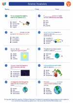 English Language Arts - Second Grade - Worksheet: Science Vocabulary
