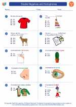 English Language Arts - Third Grade - Worksheet: Double Negatives and Homophones