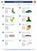 English Language Arts - Second Grade - Worksheet: Beginning Digraphs