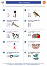 English Language Arts - Third Grade - Worksheet: Vowel Diphthongs