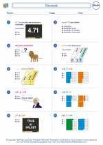 Mathematics - Fourth Grade - Worksheet: Decimals