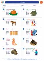 English Language Arts - Fourth Grade - Worksheet: Plurals