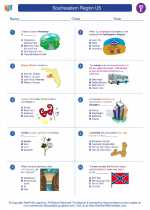 Social Studies - Fifth Grade - Worksheet: Southeastern Region US