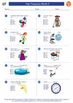 English Language Arts - Fourth Grade - Worksheet: High Frequency Words II