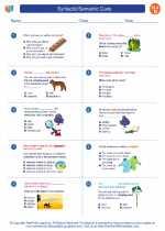 English Language Arts - Fourth Grade - Worksheet: Syntactic/Semantic Cues