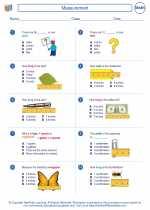 Mathematics - Third Grade - Worksheet: Measurement