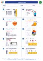Mathematics - Third Grade - Worksheet: Measurement