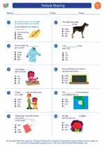 English Language Arts - Third Grade - Worksheet: Multiple Meaning