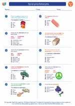 English Language Arts - Fourth Grade - Worksheet: Synonyms/Antonyms