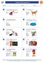 English Language Arts - Fourth Grade - Worksheet: Subject/Verb Agreement