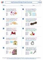 Mathematics - Fifth Grade - Worksheet: Add/Subtract/Multiply/Divide Decimals