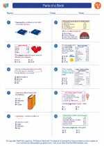 English Language Arts - Fourth Grade - Worksheet: Parts of a Book