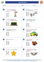 English Language Arts - Second Grade - Worksheet: Sight Words II