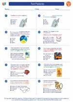 English Language Arts - Fourth Grade - Worksheet: Text Features