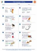 English Language Arts - Fourth Grade - Worksheet: Vivid Language in Writing