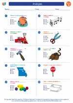 English Language Arts - Fourth Grade - Worksheet: Analogies