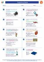 English Language Arts - Fourth Grade - Worksheet: Supporting Details