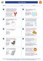 English Language Arts - Fourth Grade - Worksheet: Summarizing