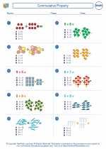 Mathematics - First Grade - Worksheet: Commutative Property
