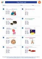 English Language Arts - Second Grade - Worksheet: Past Tense (-ed)
