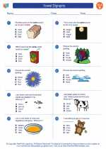 English Language Arts - Second Grade - Worksheet: Vowel Digraphs