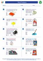 Mathematics - Fourth Grade - Worksheet: Word Problems