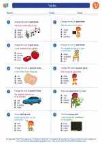 English Language Arts - Second Grade - Worksheet: Verbs