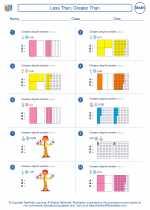 Mathematics - Fifth Grade - Worksheet: Less Than, Greater Than