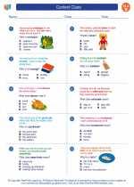 English Language Arts - Second Grade - Worksheet: Context Clues