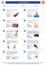 English Language Arts - Fifth Grade - Worksheet: Literary Devices