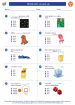 English Language Arts - First Grade - Worksheet: Words with -ce and -se