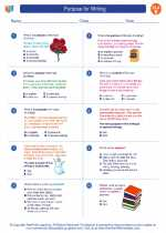 English Language Arts - Fifth Grade - Worksheet: Purpose for Writing