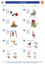 English Language Arts - First Grade - Worksheet: Main Idea