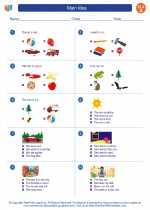 English Language Arts - First Grade - Worksheet: Main Idea