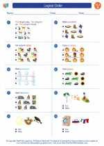 English Language Arts - First Grade - Worksheet: Logical Order