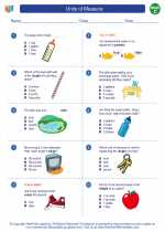 Mathematics - Third Grade - Worksheet: Units of Measure
