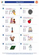 English Language Arts - Second Grade - Worksheet: Sight Words IV
