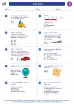 Social Studies - Fourth Grade - Worksheet: Map Skills