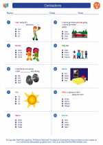 English Language Arts - Second Grade - Worksheet: Contractions