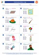 English Language Arts - Second Grade - Worksheet: Continuous Action (-ing)