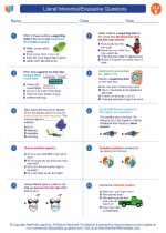 English Language Arts - Fifth Grade - Worksheet: Literal/Inferential/Evaluative Questions